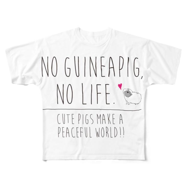 hiyo29のno guineapig , no life. All-Over Print T-Shirt