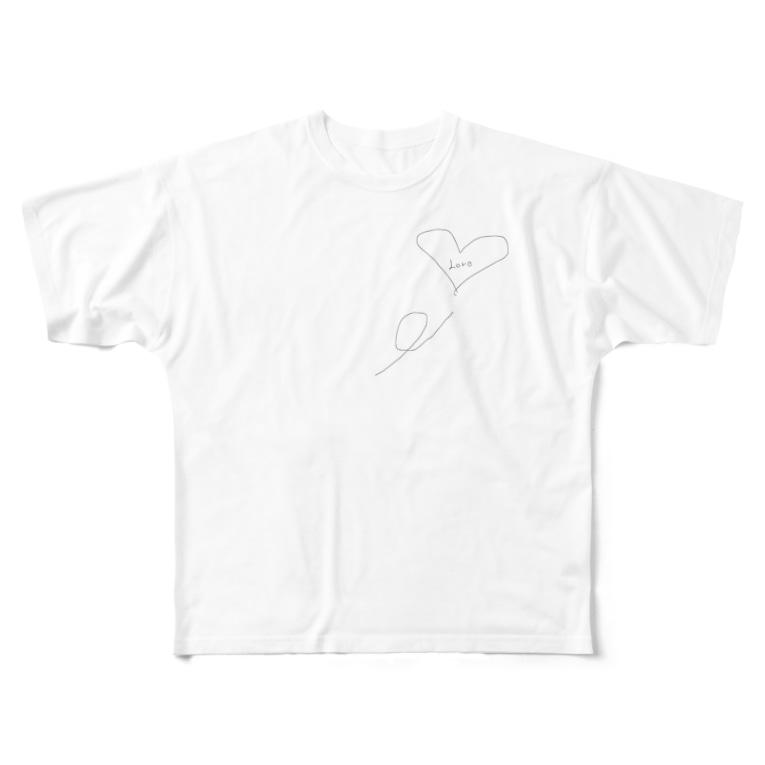 rinka56のラブが止まらない Full graphic T-shirts