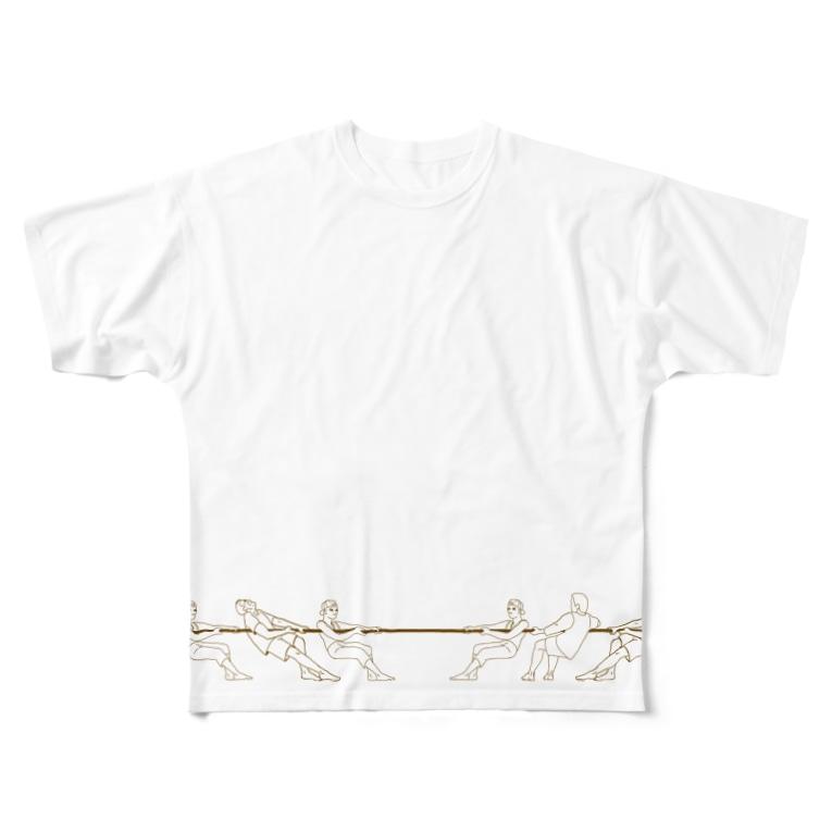 令和堂の綱引き 背面デザインあり Full graphic T-shirts