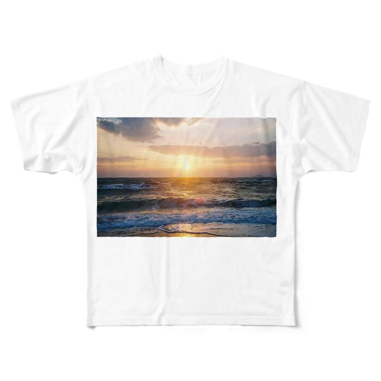 maku___nのあの空の向こう側 Full graphic T-shirts