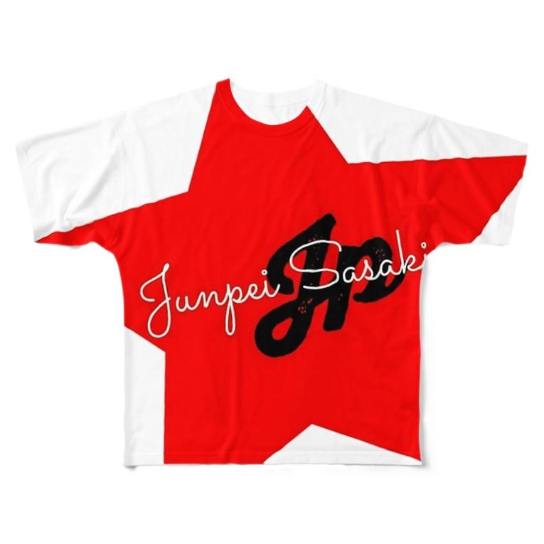 佐々木淳平のグッズショップです。のJP STAR LOGO Full graphic T-shirts
