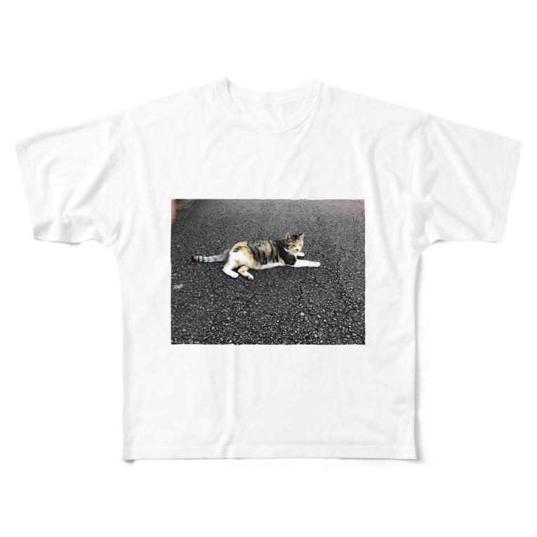 DENAの猫ティー! Full graphic T-shirts