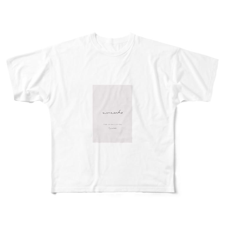 rilybiiのamaenbo*pink Full graphic T-shirts