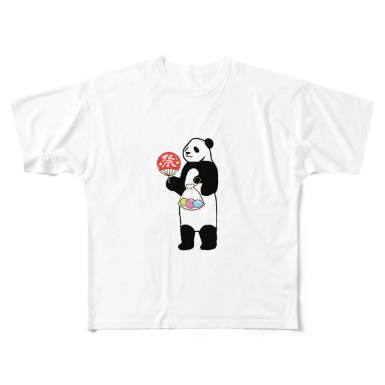 yumi0326のパンダの夏祭り Full graphic T-shirts