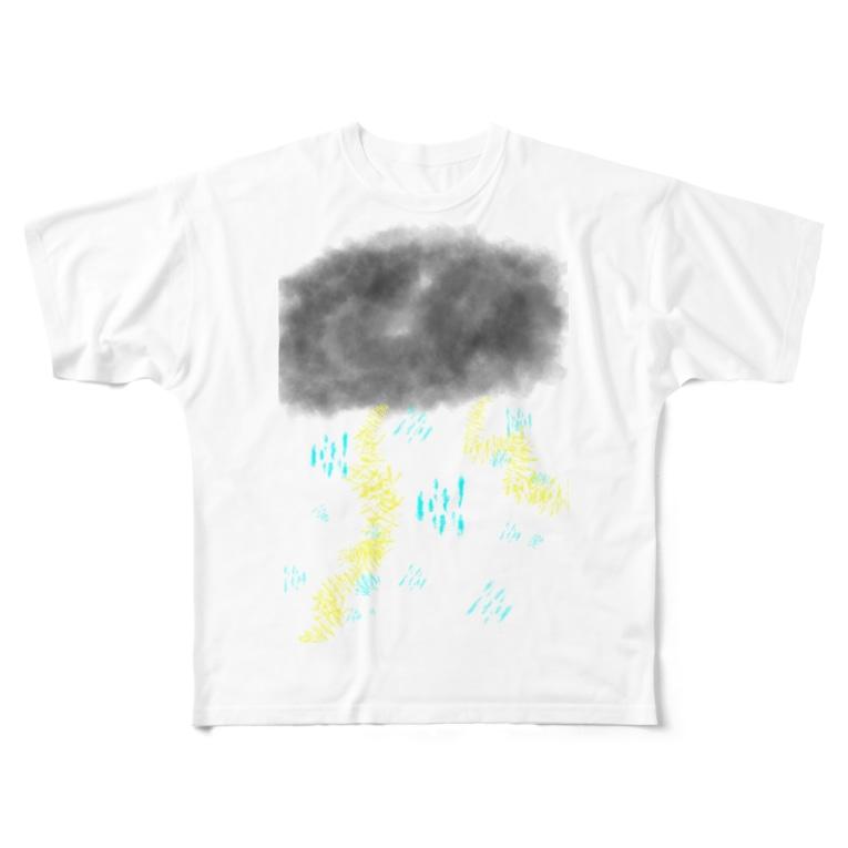 AIRの雷雨⚡️ Full graphic T-shirts