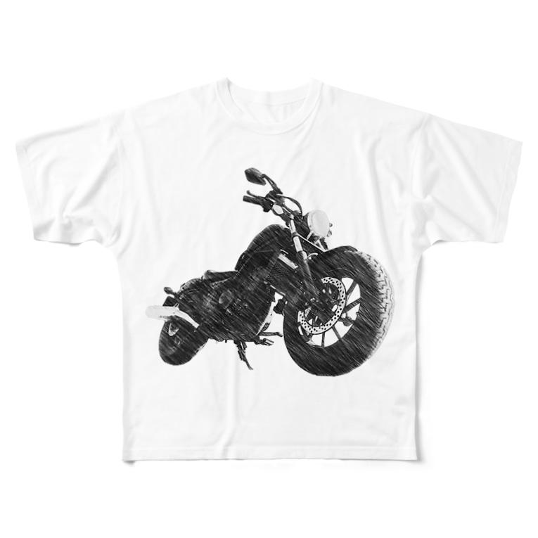 aym'collectionのモノクロREBEL Full graphic T-shirts
