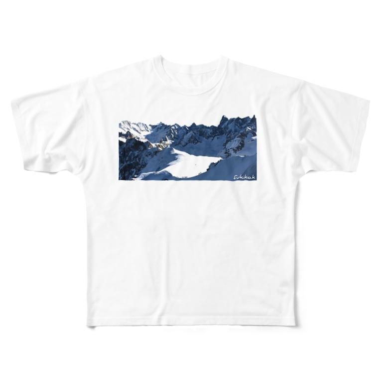 kazefukikoのシャモニー エギュイミディ ドライTシャツ Full graphic T-shirts