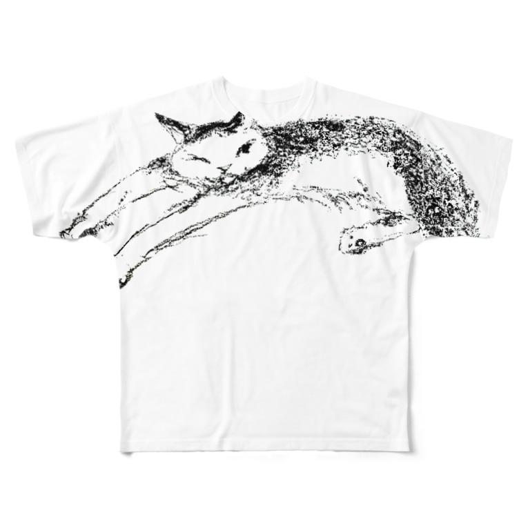 kobonona2のゆうかんなねこ まる Full graphic T-shirts