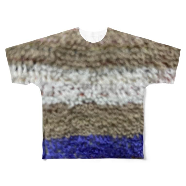 hitomi miyashitaのタオル柄 Full graphic T-shirts
