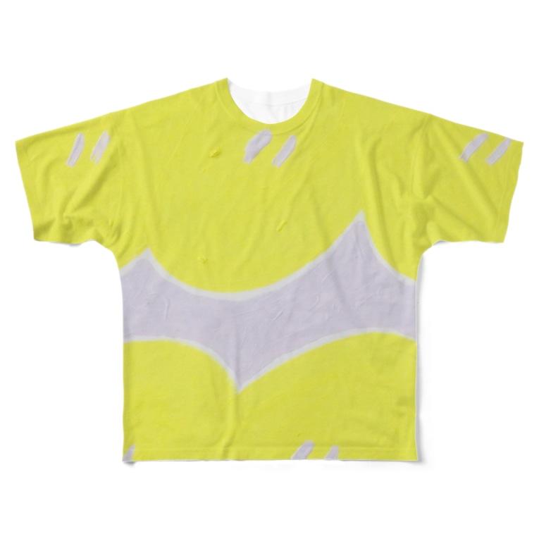 HARUTA_MISAKIの明るい檸檬 Full graphic T-shirts