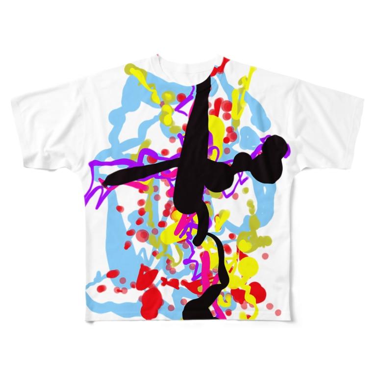 壊レタ歯車の落書き2-200620 Full graphic T-shirts