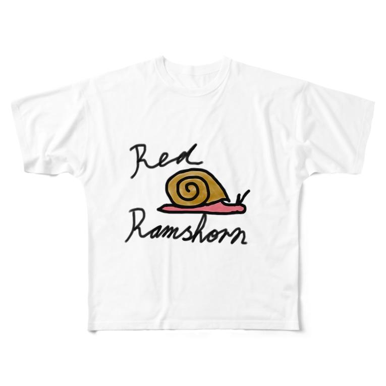 らむず屋のれっどらむず Full graphic T-shirts