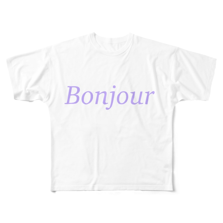 Juli MeerのBonjour Full graphic T-shirts