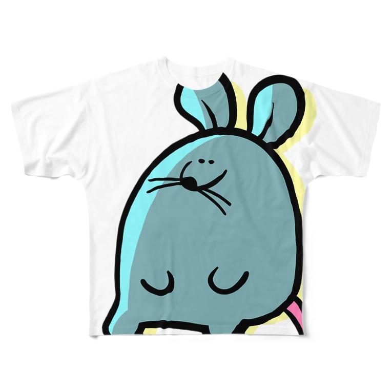 とてもえらい本店のちんやりまうす。 Full graphic T-shirts