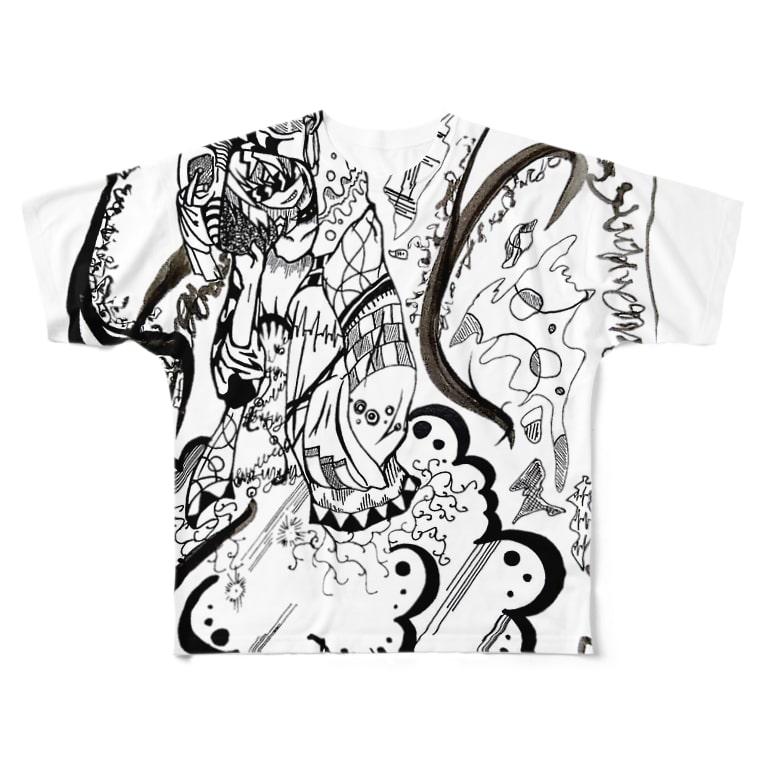 はしうおの現代雷神 Full graphic T-shirts