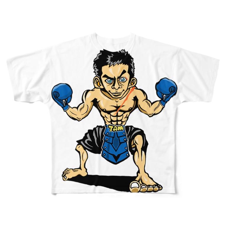 ASB boxingclub SHOPの ASBスタッフ「タムタム」アイテム  Full graphic T-shirts
