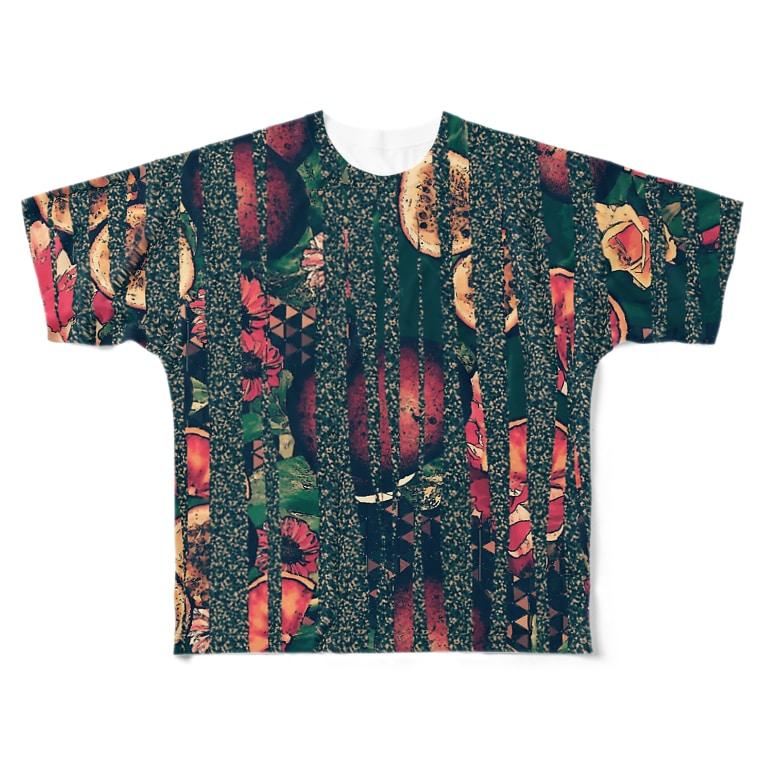 水彩屋のspicyふるーつ(ゼブラアレンジ) Full graphic T-shirts