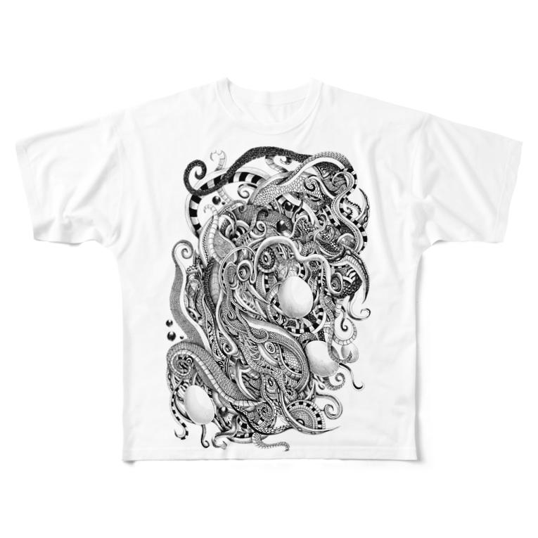 鬼気の廻る蛇 Full graphic T-shirts