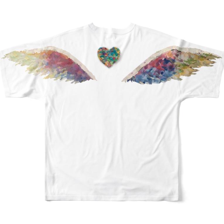 honey-designの天使の羽 Full graphic T-shirts