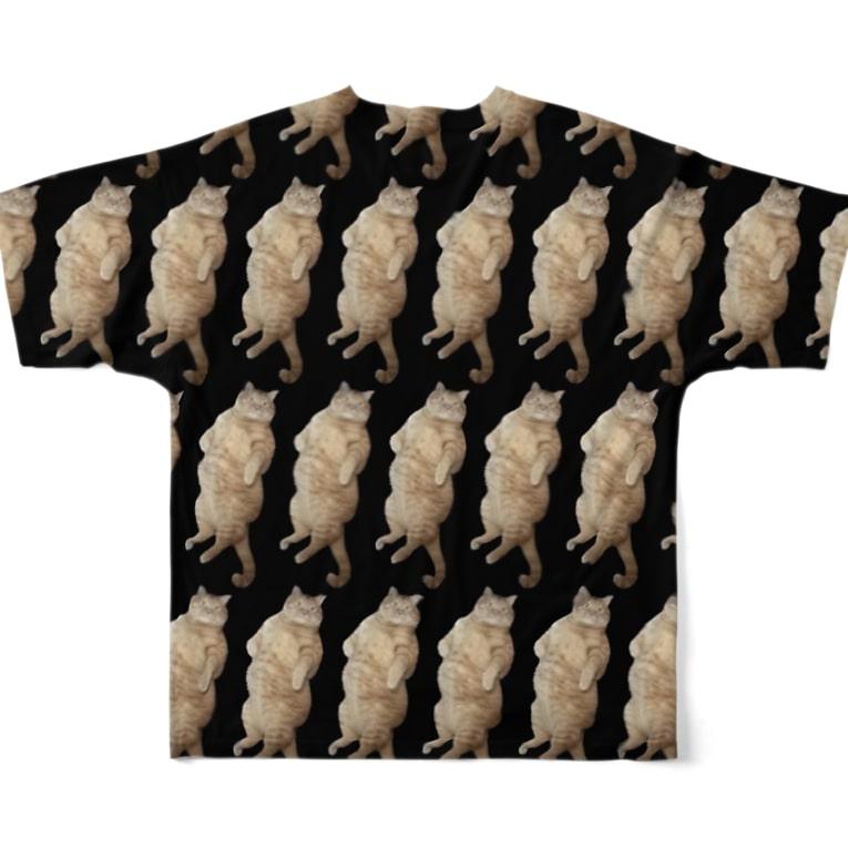 あじゅ✮うんたま屋のdebu-T Full graphic T-shirtsの背面