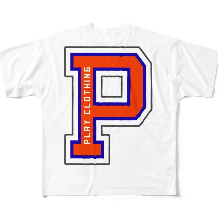 "PLAY clothingの""P"" LOGO O ① Full graphic T-shirts"