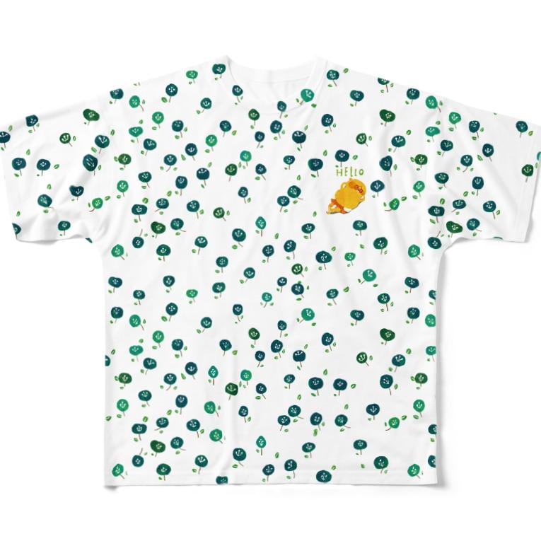きぐまくんとゆかいな仲間たちのきぐまくんのお昼寝2 Full graphic T-shirts