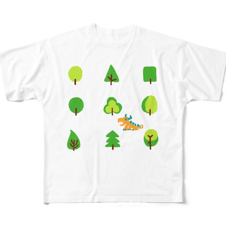 zentoyのwoods and dragon Full graphic T-shirts