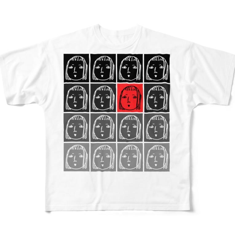 ぱうこうの超絶増殖美少女 Full graphic T-shirts