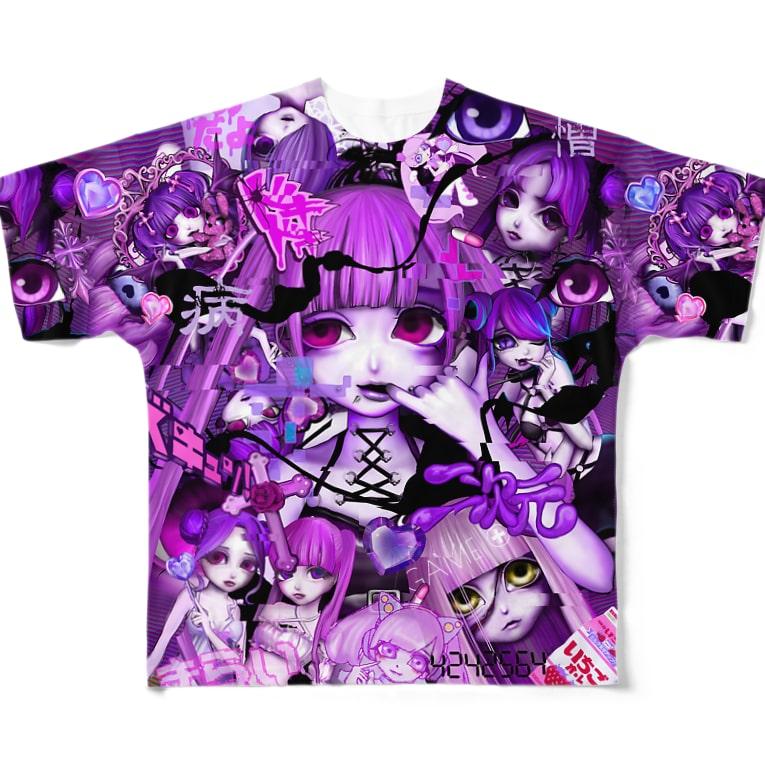 MEAの総柄T Full graphic T-shirts