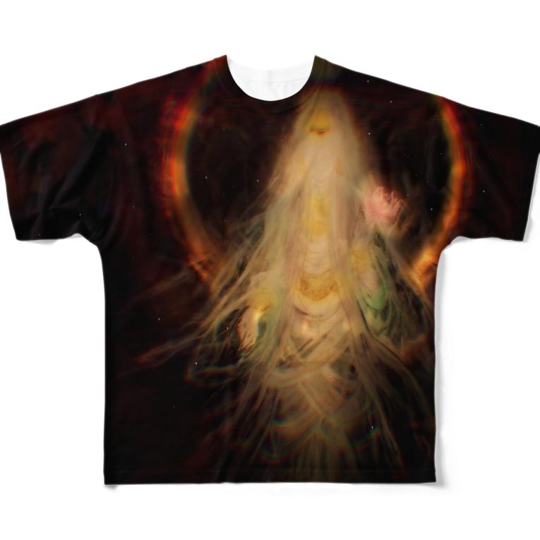 millionmirrors!の【FGT/両面】KANNON(観音) -type B- Full graphic T-shirts