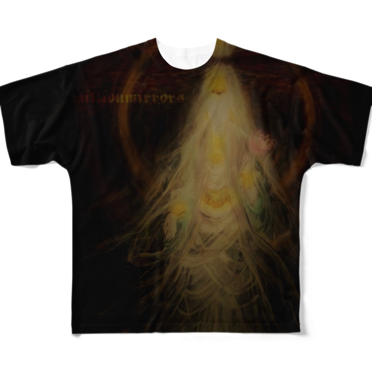 millionmirrors!の【FGT/両面】KANNON(観音) -type A- Full graphic T-shirts
