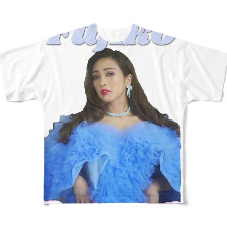 Fuzy's shopのFujikoゴージャス-カラー Full graphic T-shirts
