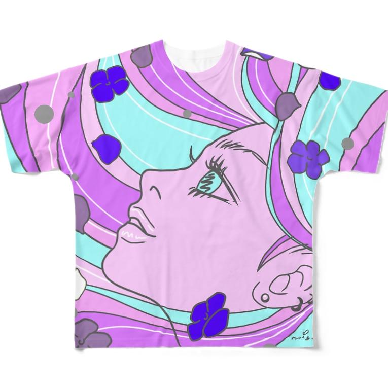 M✧Lovelo(エム・ラヴロ)のあじさい(6月の誕生花) Full Graphic T-Shirt