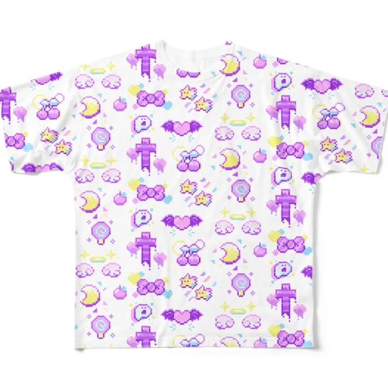 ヌンのファンシー8BITものぐらむ Full Graphic T-Shirt