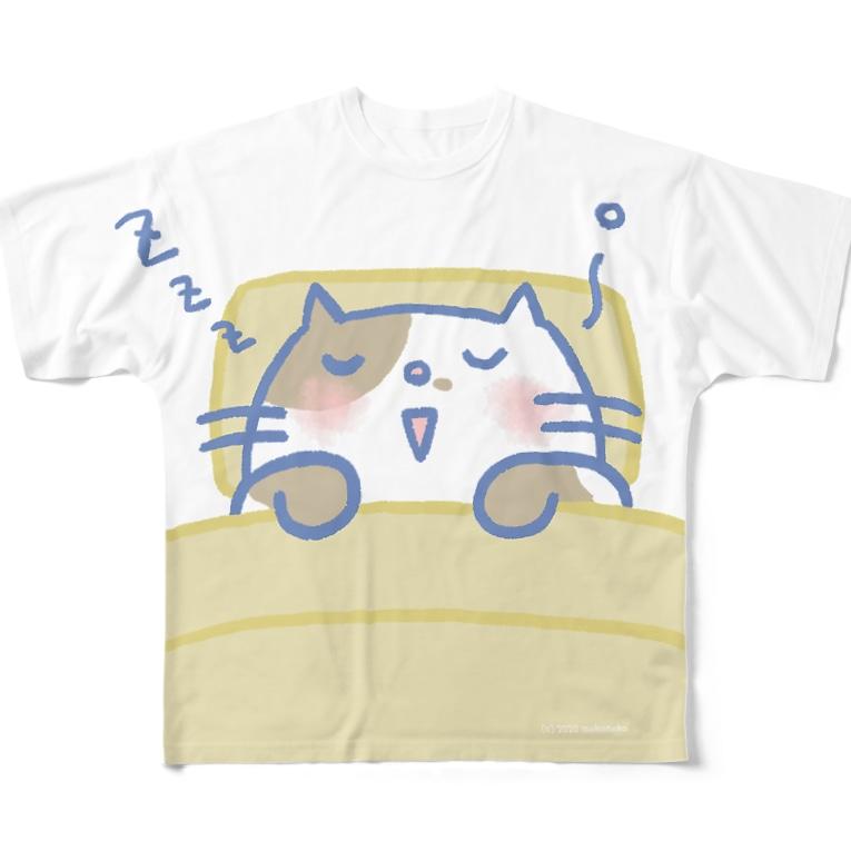 もこねこのすにゃんなTシャツ Full graphic T-shirts
