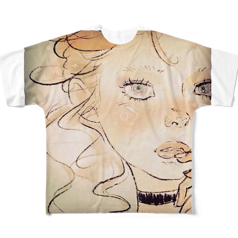 馬小屋の女の子 Full graphic T-shirts