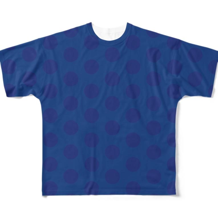 USAGI DESIGN -emi-のただのドットじゃない Full graphic T-shirts