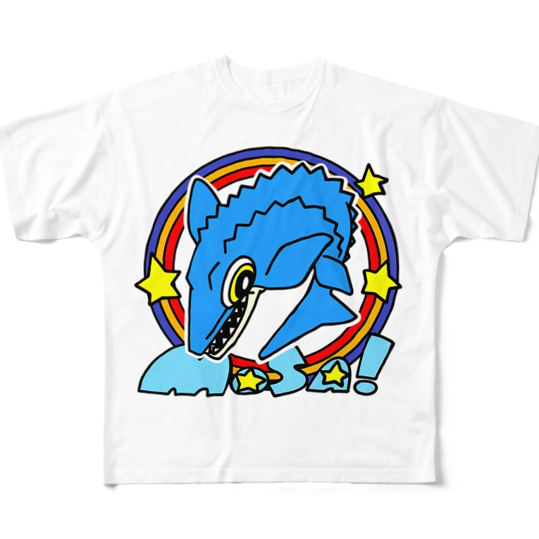 えいくらのPOP!モササウルス Full graphic T-shirts