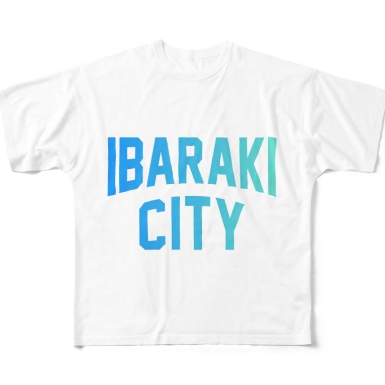 JIMOTO Wear Local Japanの茨木市 IBARAKI CITY Full graphic T-shirts