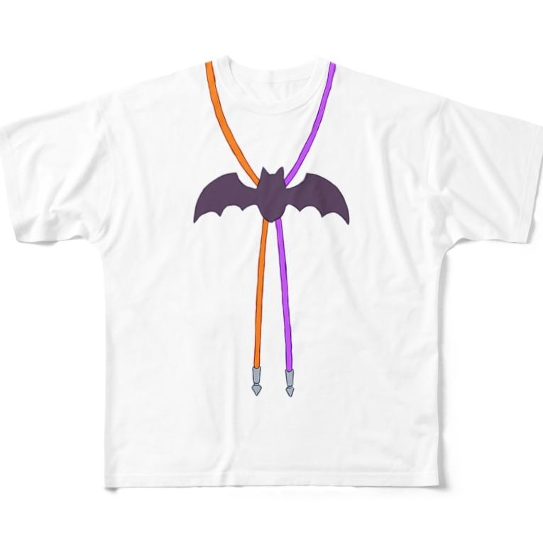 yuzukozumicのコウモリループタイ Full Graphic T-Shirt