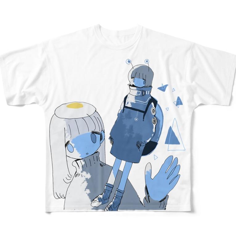 soyatuのFullprint alien Full graphic T-shirts