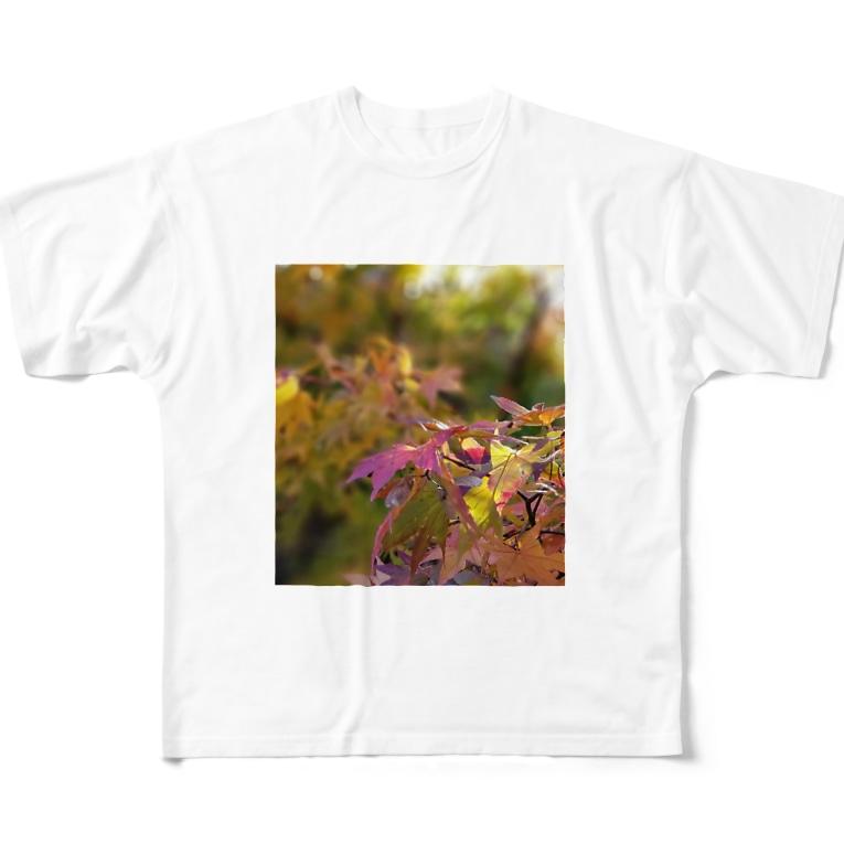 mariaMadeのもみじちゃん Full graphic T-shirts
