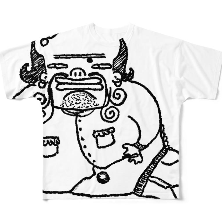 THEY ARE 「オソナえもん」のTHIS IS 描きたかっただけ Full graphic T-shirts