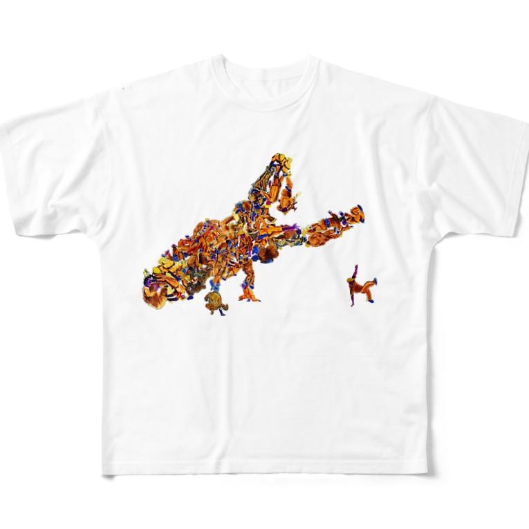 my-toshiのブレイクダンサー Full graphic T-shirts