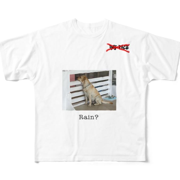 RAF FACEのRain dog  Full graphic T-shirts