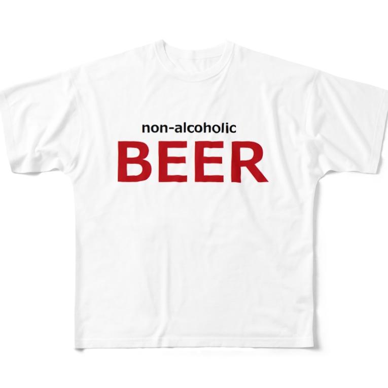 アメリカンベース  のノンアルコールビール ビール Full graphic T-shirts