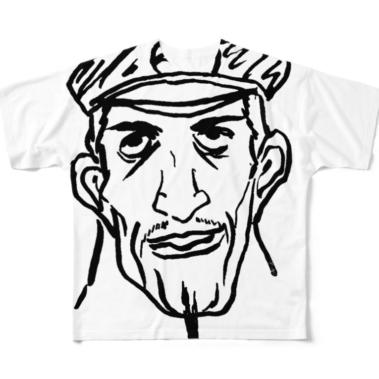 MORESODAの三段落ち(シェフ) Full graphic T-shirts