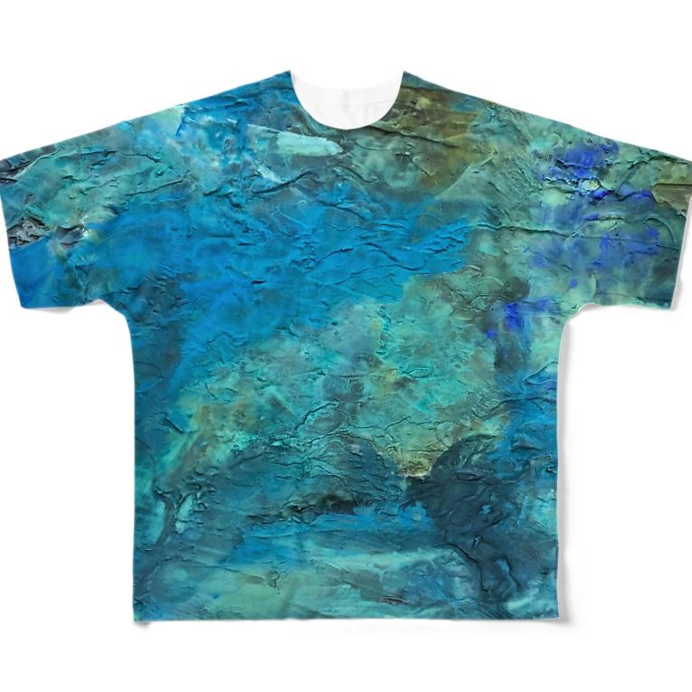 犬野温森の海底ひゃくおくまんキロメートル Full graphic T-shirts