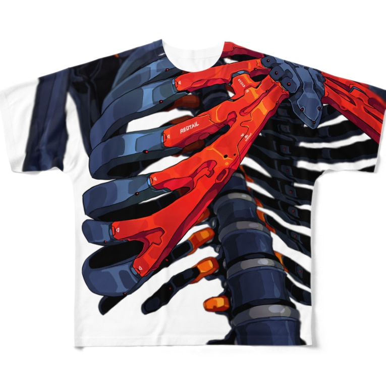 REDTAILの強化骨格:Enhanced skeleton Full Graphic T-Shirt