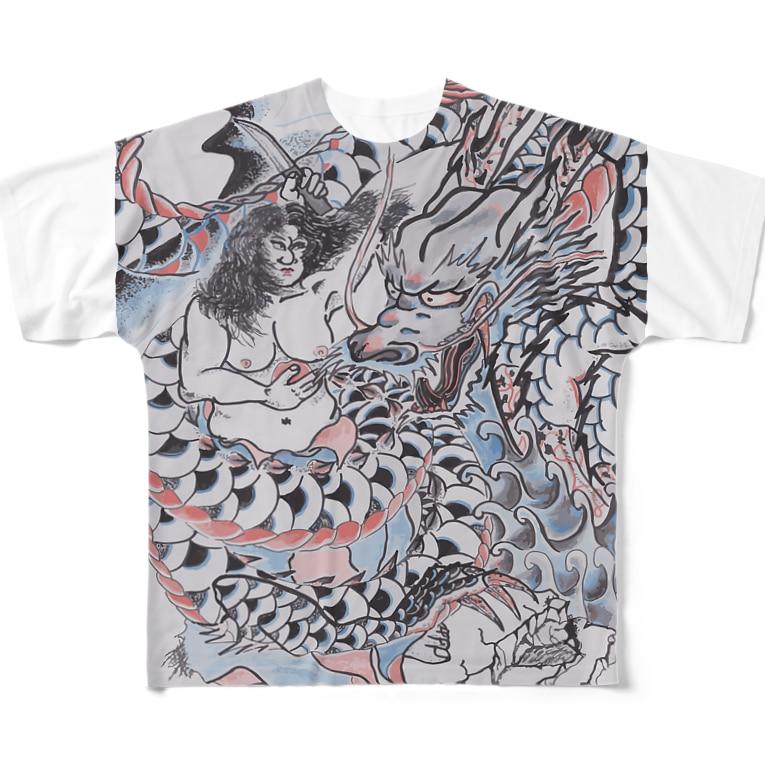 SO-yanの龍と海女 Full graphic T-shirts